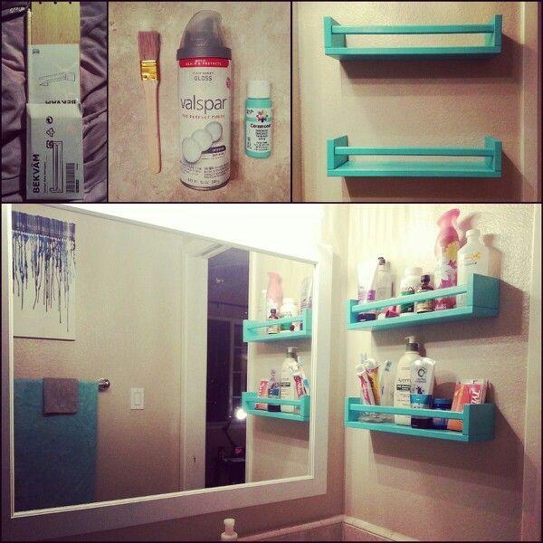 50 Brilliant Bathroom Storage Hacks And Organization Diy: Bekvam Spice Rack From…   – Brilliant Solutions Bathroom Organization and Storage DIY