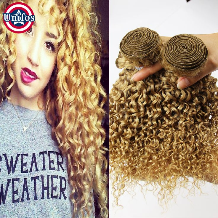 $142.00 (Buy here: https://alitems.com/g/1e8d114494ebda23ff8b16525dc3e8/?i=5&ulp=https%3A%2F%2Fwww.aliexpress.com%2Fitem%2FPeruvian-Curly-Blonde-Weave-27-Honey-Blonde-Human-Hair-Weave-Bundles-Unifos-Blonde-Virgin-Hair-4pcs%2F32493816576.html ) Curly Blonde Virgin Hair Peruvian Blonde Curly Hair Extensions Honey Blonde Human Hair Weave Bundles 4pcs Curly Blonde Weave 27# for just $142.00