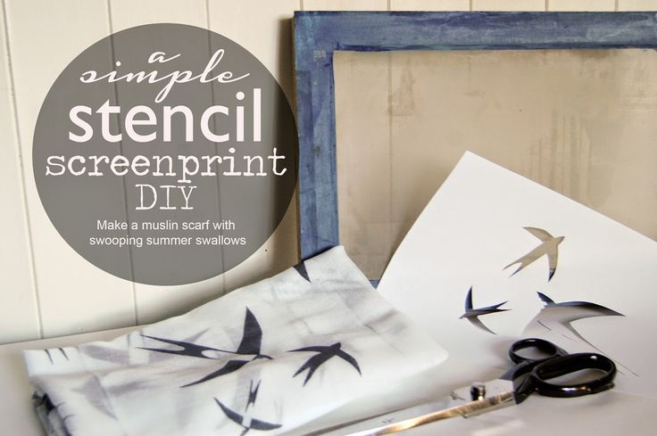 Jenny mccabe for coo and co: A simple stencil screen-print DIY #screenprinting #diy #birds #swallows #handmade #handprinted
