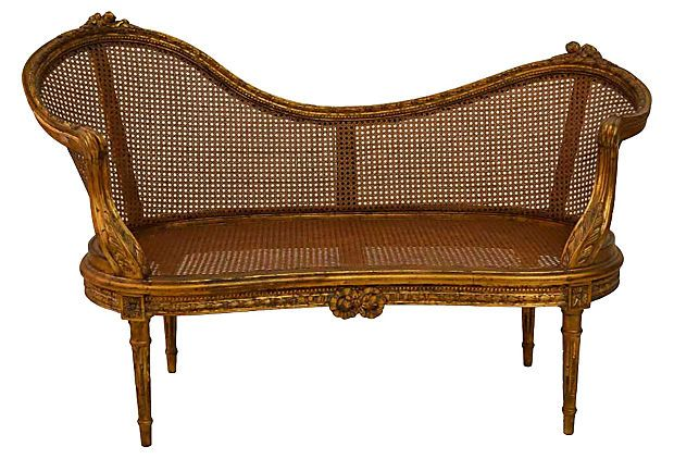 louis xvi style cane chaise on home. Black Bedroom Furniture Sets. Home Design Ideas