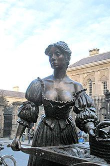 In Dublin's fair city,  Where the girls are so pretty,  I first set my eyes on sweet Molly Malone,