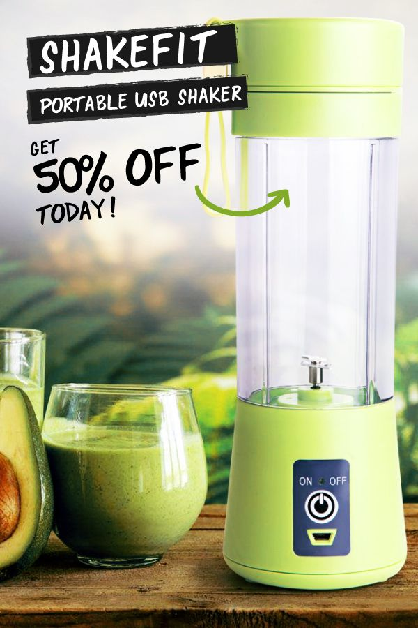 It's Time to ShakeFit! This portable blender gives you access to healthy shakes wherever you go! Get yours today!