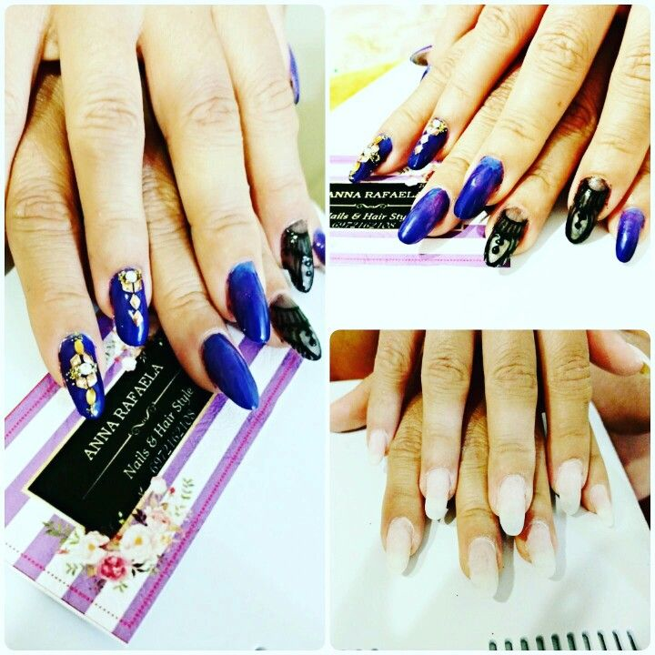 Gel nail art #salonderaf