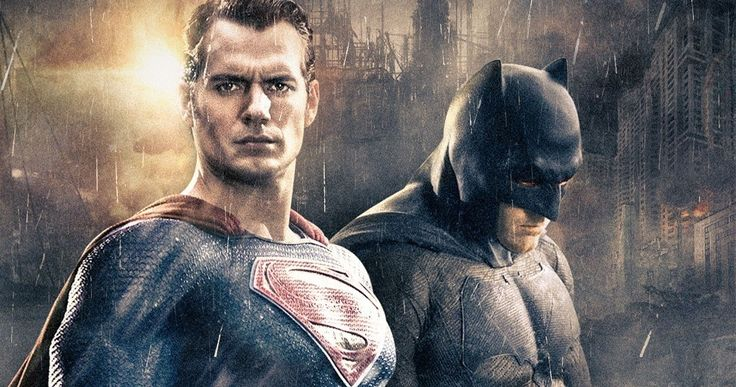 'Batman v Superman' Photo Goes Behind-The-Scenes of the Fight -- Henry Cavill and Ben Affleck are seen on set in a new fight photo from 'Batman v Superman: Dawn of Justice'. -- http://movieweb.com/batman-v-superman-fight-behind-scenes-photo/