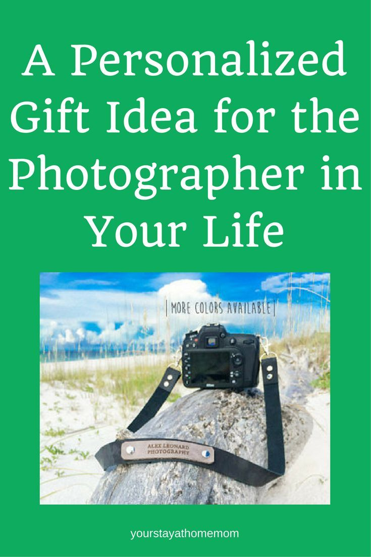 A personalized  camera strap is a perfect gift for the the photographer in your life. #aff #photoshoot #camera #giftidea #giftguide2017