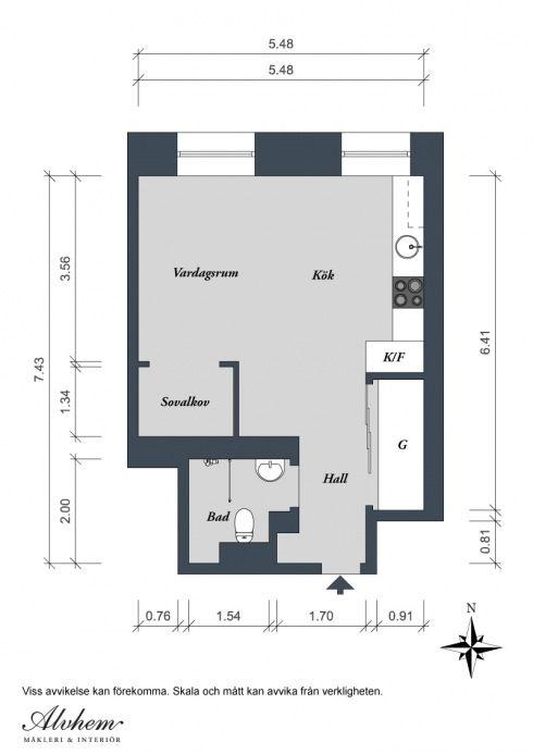 plan mieszkania o powierzchni 35 m2