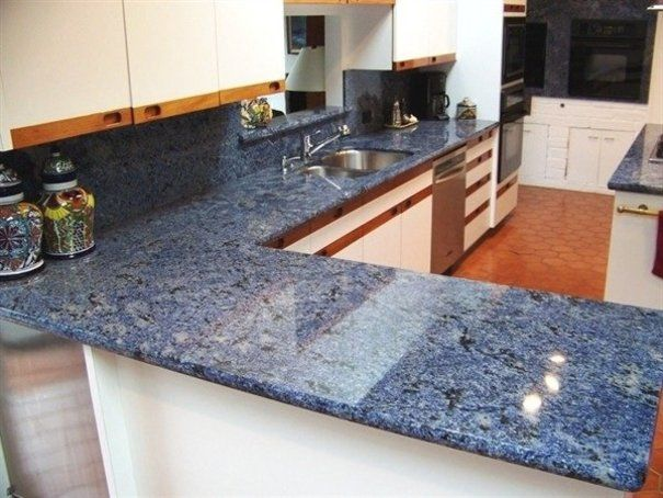 14 best blue kitchens images on pinterest for Blue countertops kitchen ideas