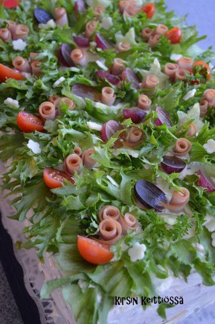 Kirsin keittiössä: Kinkkuvoileipäkakut - 50 hlö