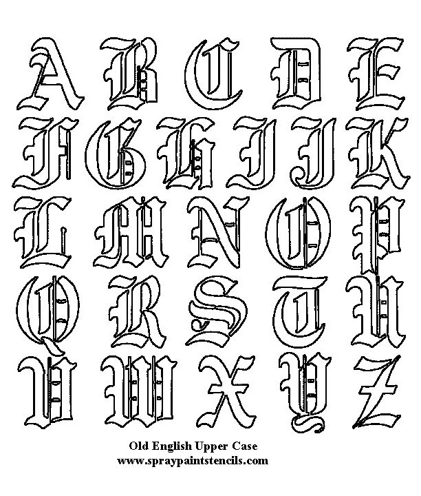 Tattoo+Types+Fonts+Old+English+On+Back+Body++Free+Download