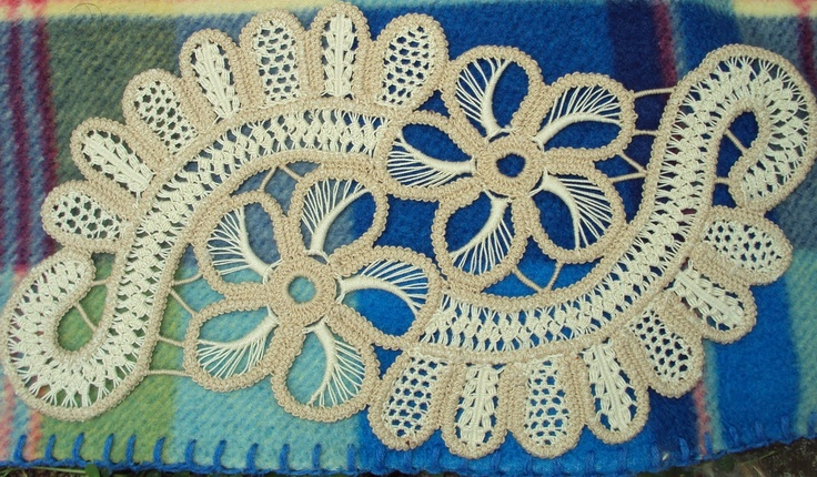 Romanian Point Lace 2-tone color scheme