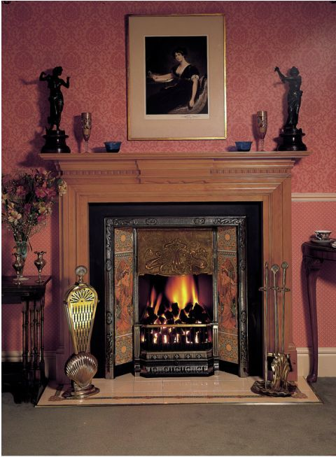 Perfection Fireplace Part - 46: With All The Exuberance Of Century Fin De Siècle Style, The Stovax Art  Nouveau Insert Fireplace Captures The Erau0027s Flowing Design Motifs To  Perfection