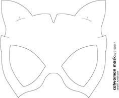 Best 25 catwoman mask ideas on pinterest for Kiss mask template
