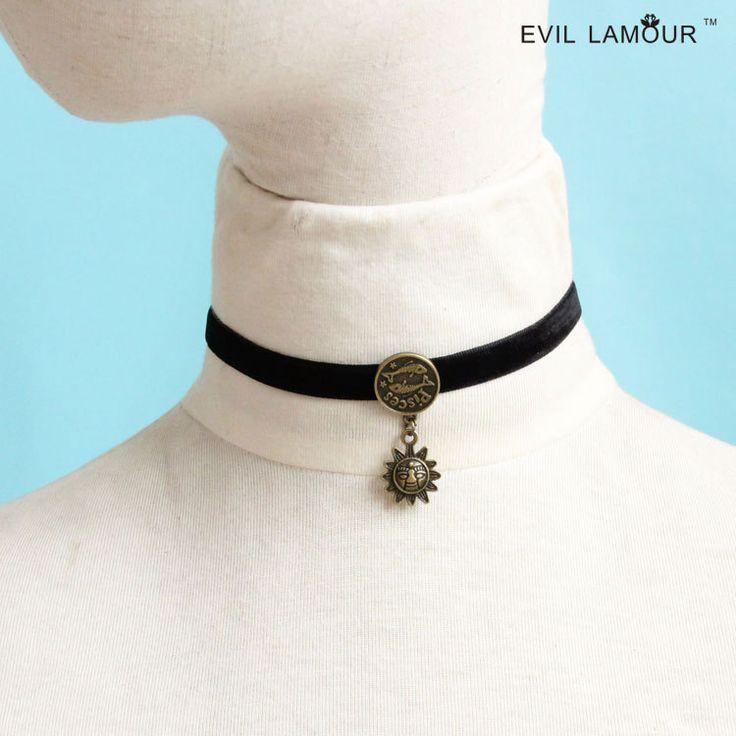 Ожерелье mujer черная лента бархат веревка рыбы вс созвездие ожерелье воротник ожерелье короткое ожерелье