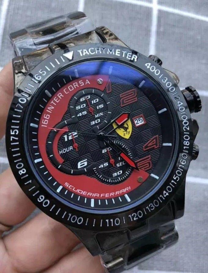 2971aebffb33 reloj sport scuderia ferrari F1 166 inter corsa con correa silicona rojo