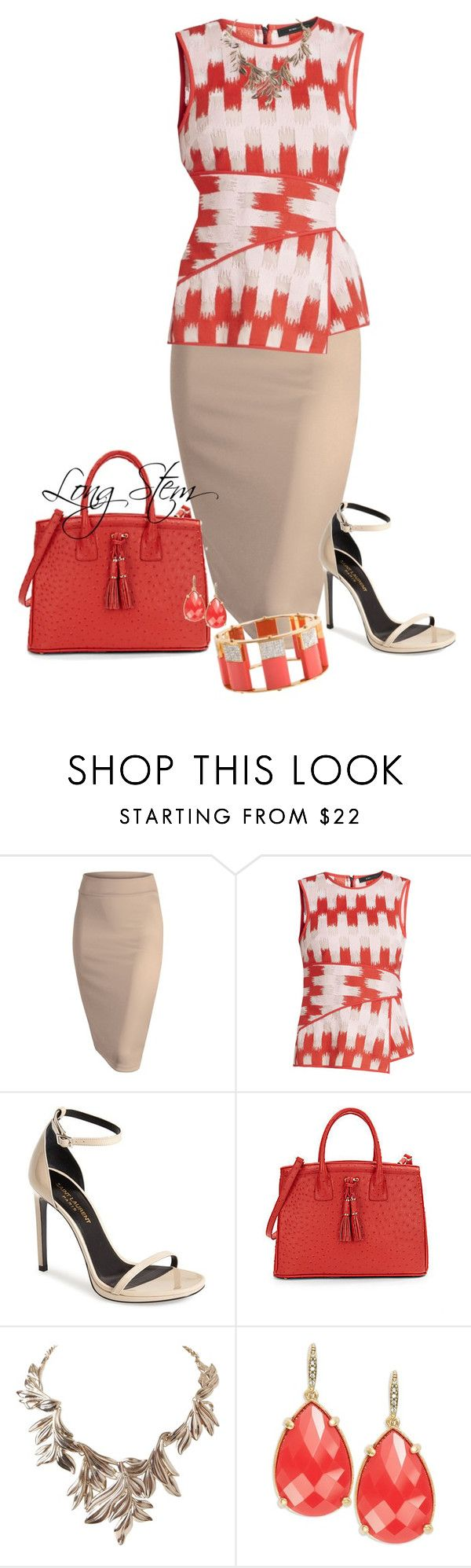 """""""07/07/15"""" by longstem ❤ liked on Polyvore featuring BCBGMAXAZRIA, Yves Saint Laurent, Ivanka Trump, Humble Chic, ABS by Allen Schwartz and Lele Sadoughi"""