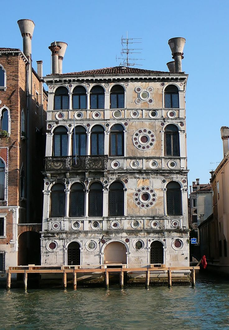 Palazzo Dario (1487) is a palace in Venice, northern Italy, situated on the Grand Canal of Venice at the mouth of the Rio delle Torreselle in the Dorsoduro sestiere (quarter) on the Campiello Barbaro. The palace was built in the floral Venetian Gothic style and was renovated with Renaissance features.