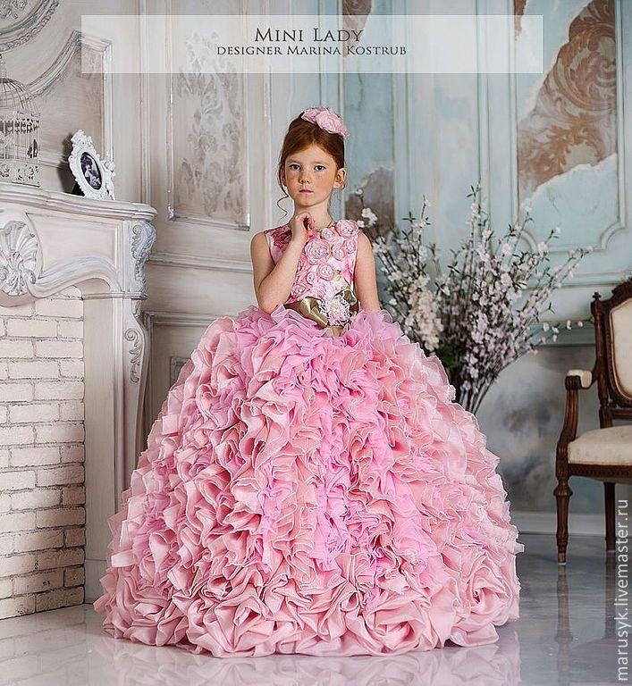 Купить Платье Кассандра- Люкс-Шебби-шик - розовый, цветочный, платье для девочки, платье для выпускного