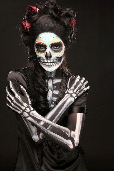 AMAZING dia de los muertos costume/makeup