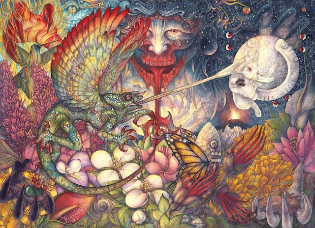 Arte Sacro y Fantástico de Pedro Sacristán: Jardín de Fuego