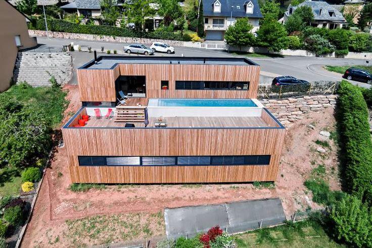 Habitações Minimalista por Hugues TOURNIER Architecte
