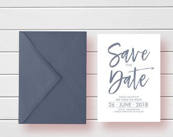 Formal Save the Date Save the Date Cards by LovePrintsDesignCo
