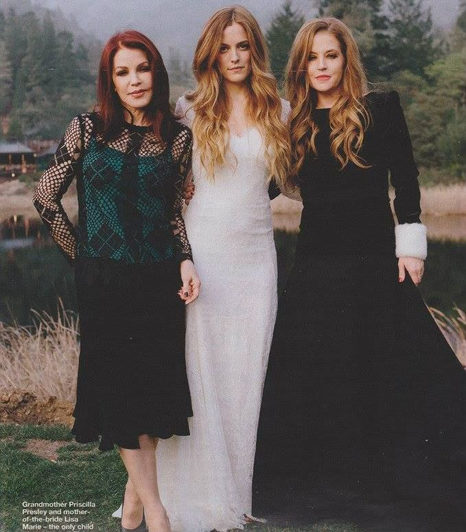 *****Priscilla Presley, Riley Keough Smith-Petersen and Lisa Marie Presley Lockwood at Riley's wedding February 2015