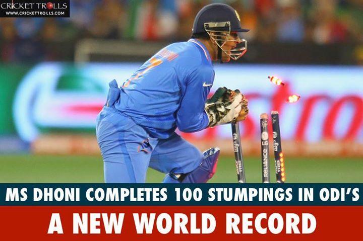 MS Dhoni breaks Kumar Sangakkara's ODI record of 99 stumpings #SLvIND #INDvSL #5thODI - http://ift.tt/1ZZ3e4d