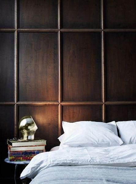paneled chocolate walls //
