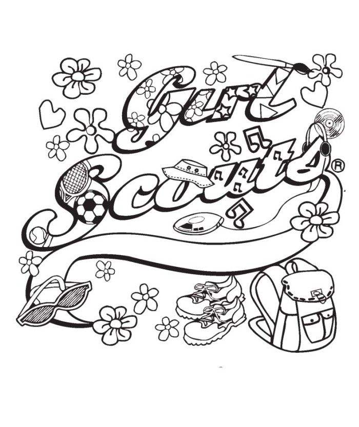 girl scout ribbon coloring pages