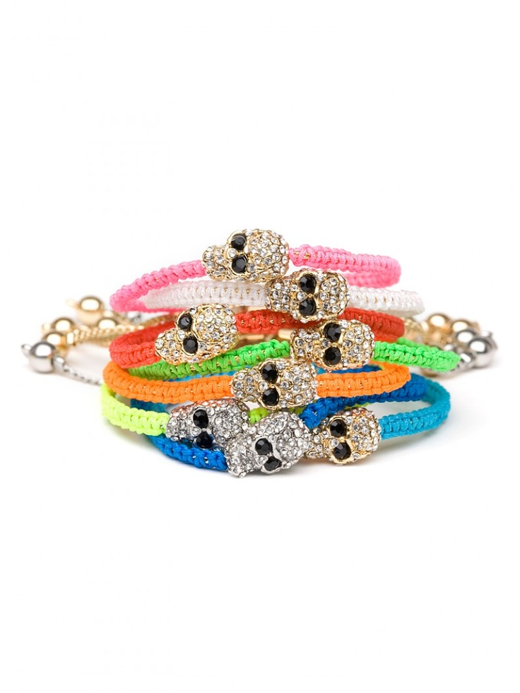 love these colorful skull wrap bracelets from baublebar