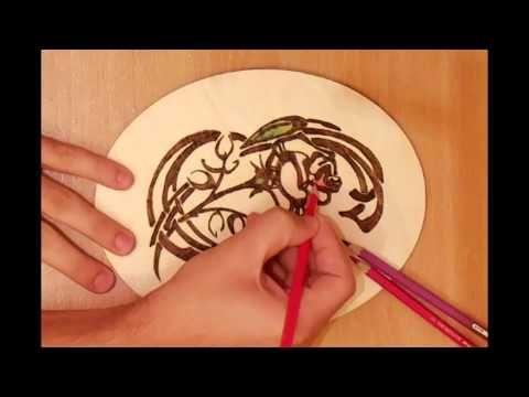 este 7 minutos muestra los fundamentos de pirograbado / leña arte. comienza copiando patrones en la madera, la quema, el sombreado y coloreado. es una excelente guía para principiantes.
