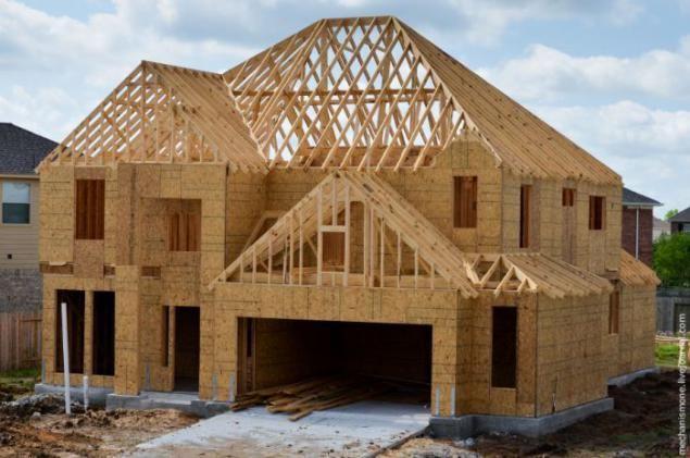 Как строят дома в США (70 фотографии)