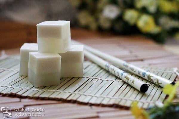 Split Coconut Jelly Recipe (Global Table Adventure), made the Agar-Agar