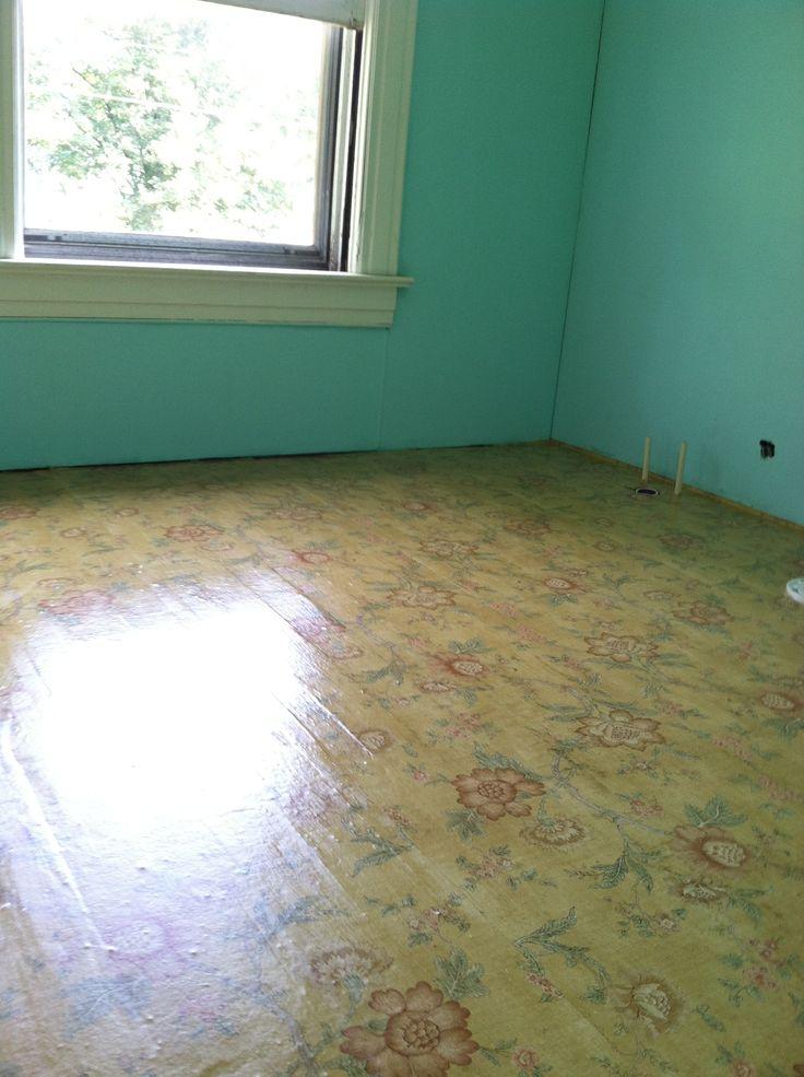 wallpapered bathroom floor chalk paint ball jar aqua walls sept