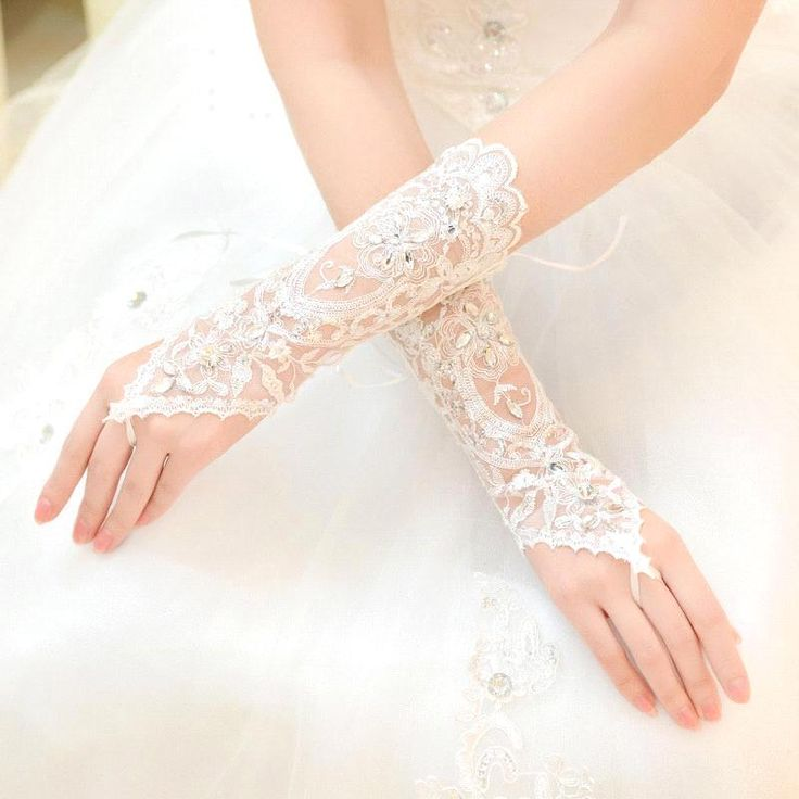 Cheap In Stock White Ivory Rhinestone Short Bride Fingerless Lace Wedding Gloves Bridal Gloves Wedding Accessories-in Bridal Gloves from Weddings & Events on Aliexpress | Alibaba Group