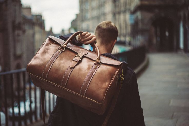 Men's Leather Duffle Bag Classic Travel Holdall by BennyBeeLeather
