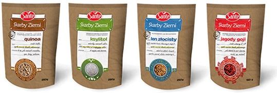 Skarby Ziemi Sante projektowanie opakowań | Skarby Ziemi Sante - packaging design