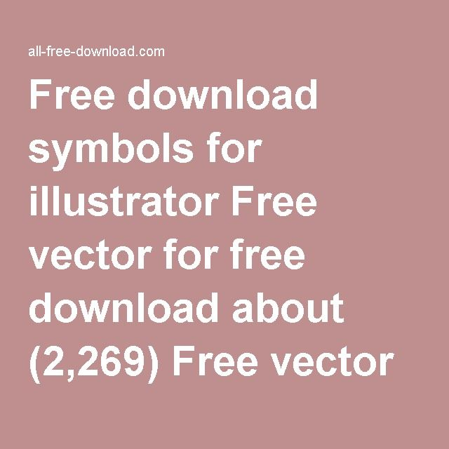 Free Download Symbols For Illustrator Free Vector For Free Download