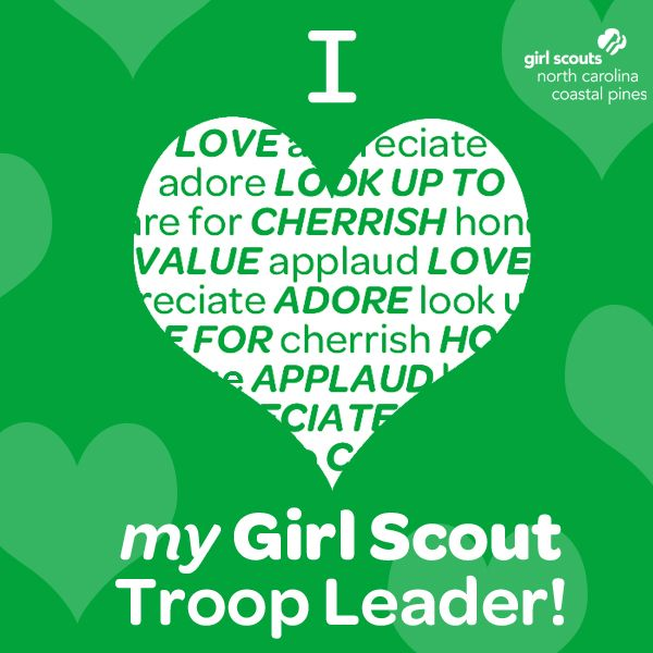 It's National Girl Scout Leader Day! A BIG THANK YOU to all our leaders and co-leaders who provide such amazing experiences for our girls. Today, we celebrate each and everyone of you! Have a Troop Leader you'd like to recognize for all of their hardwork?