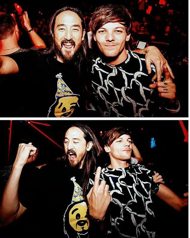 Louis with Steve Aoki (19.11.16)