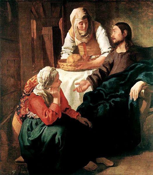 Вермеер. Христос в доме Марфы и Марии. 1654-55 гг. Национальная галерея Шотландии, Эдинбург.
