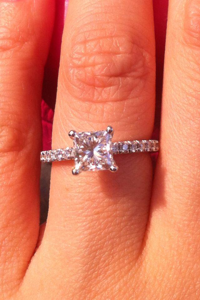 Princess Cut Engagement Ring Princess Cut Engagement