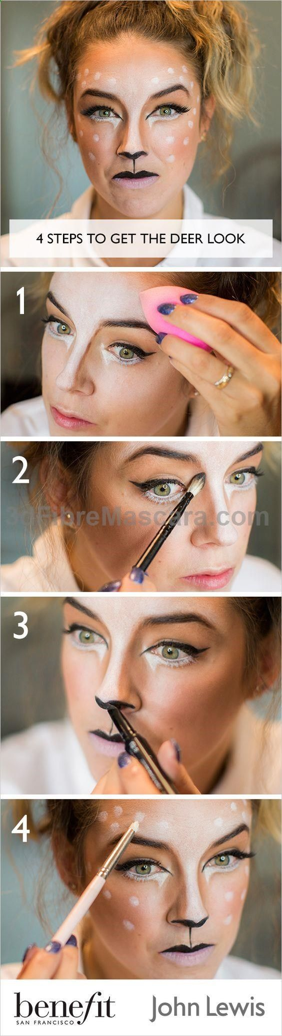 Lisa Potter-Dixon Head Make Up Artist for Benefit Cosmetics, shows us how to recreate a cute deer look this Halloween. Discover full instructions and product details.