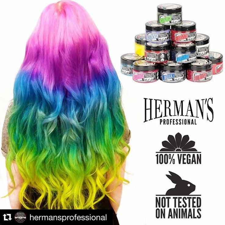 Herman's amazing hair color! Vegan and cruelty free. 1 can contains 118ml www.hermanshaircolor.com