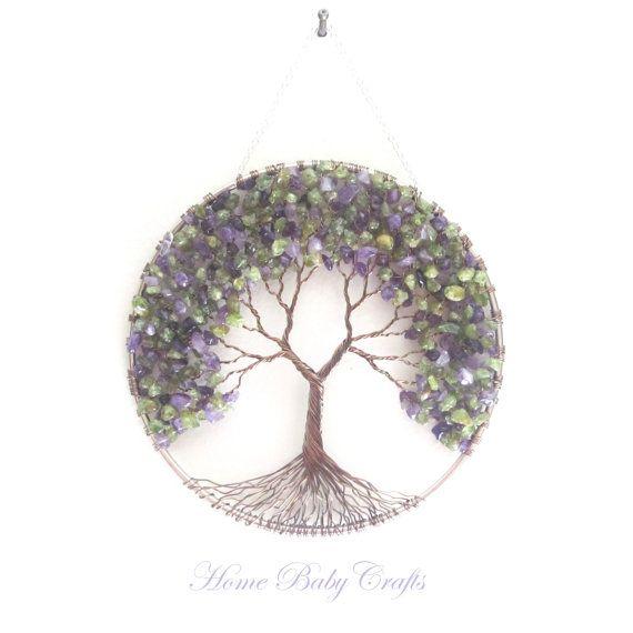 Peridoot Lilac Tree draad van de boom des levens door HomeBabyCrafts