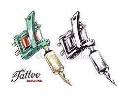 Resultado de imagen para dibujos de maquinas de tatuar a lapiz