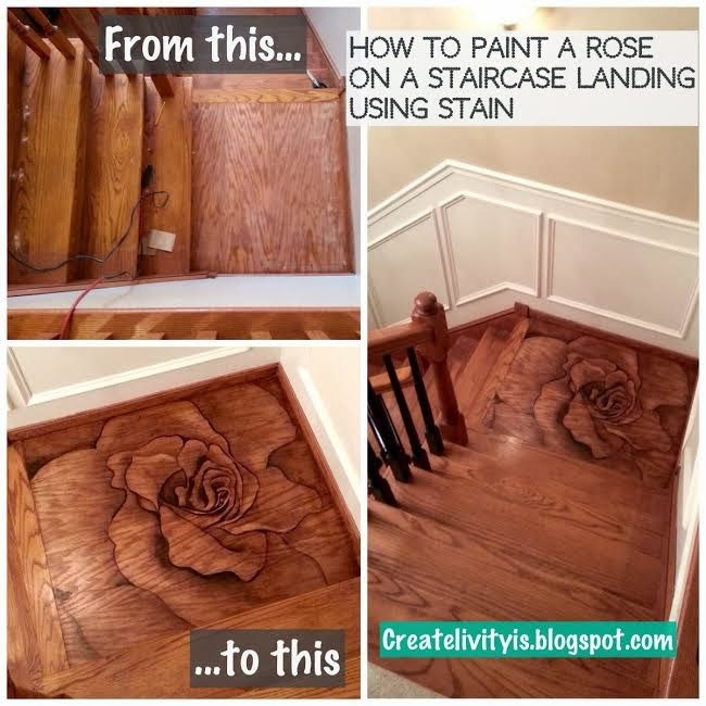 liven up a plain staircase landing