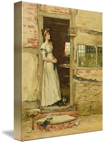 Wall Art Print entitled CHARLES NAPIER HEMY England 1841-1917 Daydreaming by Celestial Images | 36 x 45