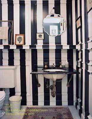 bathroom stripes