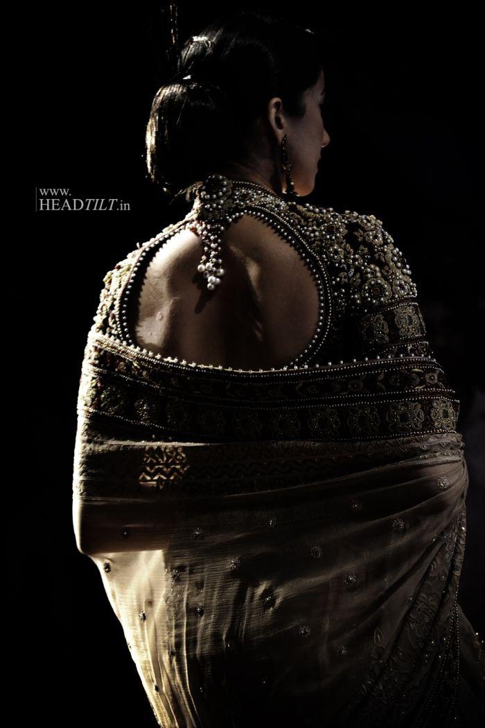 Saree blouse by Tarun Tahiliani